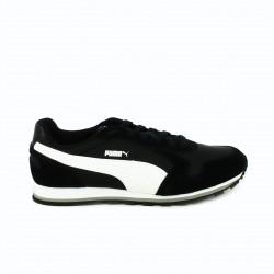 zapatillas deportivas PUMA negras rayas blancas de piel