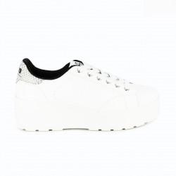 zapatillas deportivas Mustang blancas con plataforma