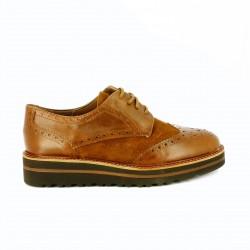 zapatos planos REDLOVE bluchers marrones piel