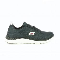 zapatillas deportivas SKECHERS negras estampadas