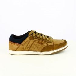 zapatos sport LOIS marrones y azules con cordones