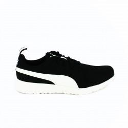 zapatillas deportivas PUMA negras y blancas transpirables