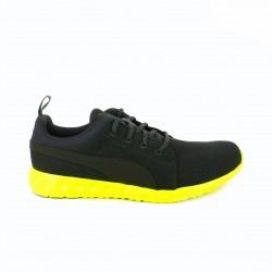 zapatillas deportivas PUMA grises suela fluor