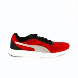zapatillas deportivas PUMA rojas rayas grises