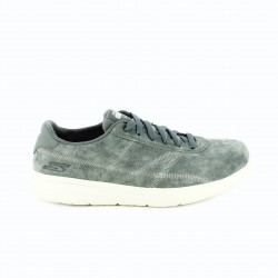 zapatillas deportivas SKECHERS grises de piel