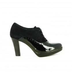 zapatos tacón PATRICIA MILLER oxford negros de piel