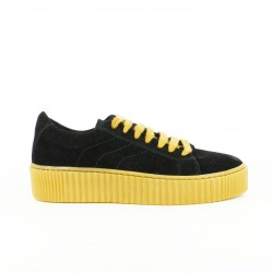 zapatillas lona IS TO ME creepers negras