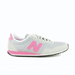 zapatillas deportivas NEW BALANCE 396 grises y rosas