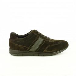 zapatos sport LUMBERJACK marrones oscuros con cordones