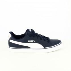 zapatillas deportivas PUMA azules y blancas de piel