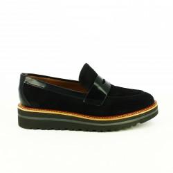 zapatos planos REDLOVE mocasines negros de piel - Querol online