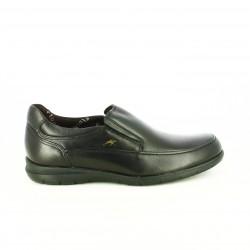 zapatos vestir FLUCHOS negros piel con elásticos