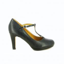 zapatos tacón MARIA MARE negros con tiras finas