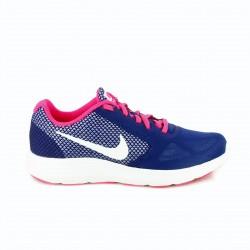 zapatillas deportivas NIKE revolution azules y rosas