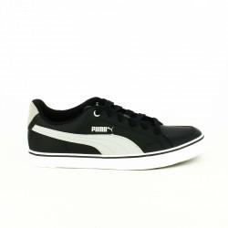 zapatillas deportivas PUMA negras y grises de piel