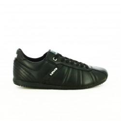 zapatos sport LEVIS negros de piel con lineas - Querol online