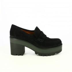 zapatos tacón REDLOVE negros de piel con plataforma - Querol online