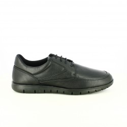 zapatos vestir T2IN bluchers negros piel - Querol online