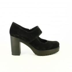zapatos tacón HOBBY SPORT negros piel abiertos
