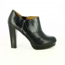 zapatos tacón MARIA MARE negros abotinados lisos y estampados - Querol online
