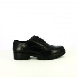 zapatos tacón YOU TOO oxford negros con brogue - Querol online