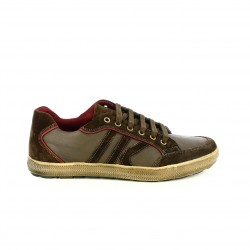 zapatos sport LUMBERJACK marrones con rayas y cordones