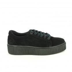 zapatillas lona REDLOVE creepers negras plataformas