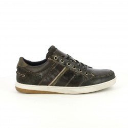 zapatos sport LOBO marrones de piel con cordones planos