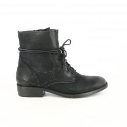 botines tacón TAMARIS negros con cordones