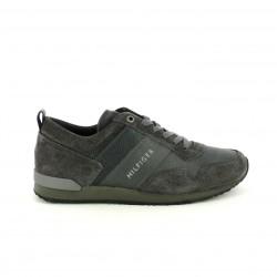 zapatos sport TOMMY HILFIGER grises de piel con cordones