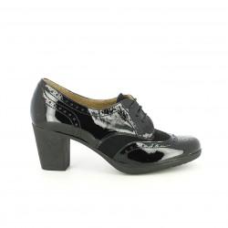 zapatos tacón SUITE009 bluchers de charol con brogue