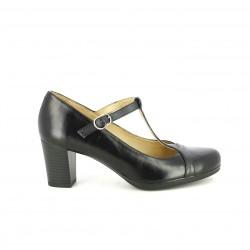 zapatos tacón SUITE009 negros de piel abiertos