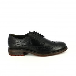zapatos vestir LOBO bluchers negros de piel con brogue