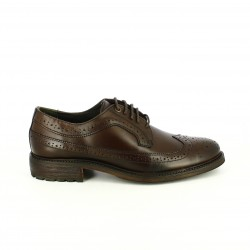 zapatos vestir LOBO bluchers marrones de piel con brogue