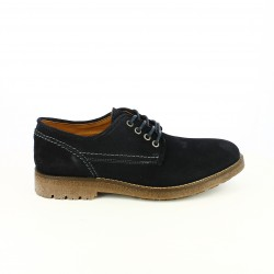 zapatos sport LOBO azules oscuros piel