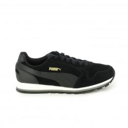 zapatillas deportivas PUMA negras de piel con cordones