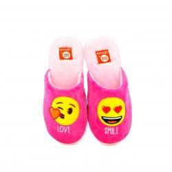 zapatillas casa GIOSEPPO rosas con emojis
