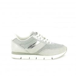 zapatillas deportivas CALVIN KLEIN plateadas y blancas - Querol online