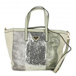 complementos XTI bolso grande gris con lentejuelas - Querol online