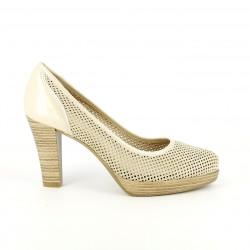 zapatos tacón PATRICIA MILLER de piel troqueladas - Querol online