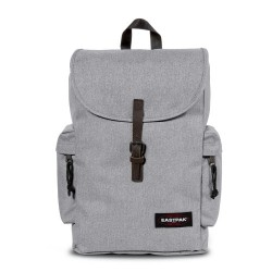 complementos eastpak mochila gris con hebilla y bolsillos - Querol online