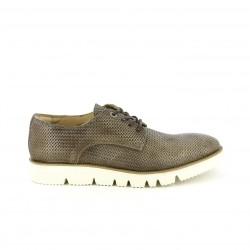 zapatos vestir CETTI bluchers estampados marrones de piel - Querol online