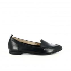 zapatos planos WONDERS mocasines negros de piel - Querol online