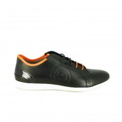 zapatos sport BE COOL de piel con cordones naranjas y negros - Querol online
