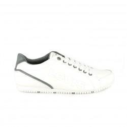 zapatos sport LEVIS blancos y grises - Querol online