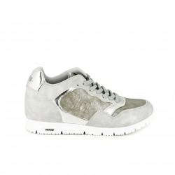 zapatillas deportivas Mustang grises con cuña - Querol online