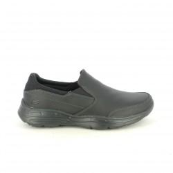 zapatos sport SKECHERS mocasines negros de piel - Querol online