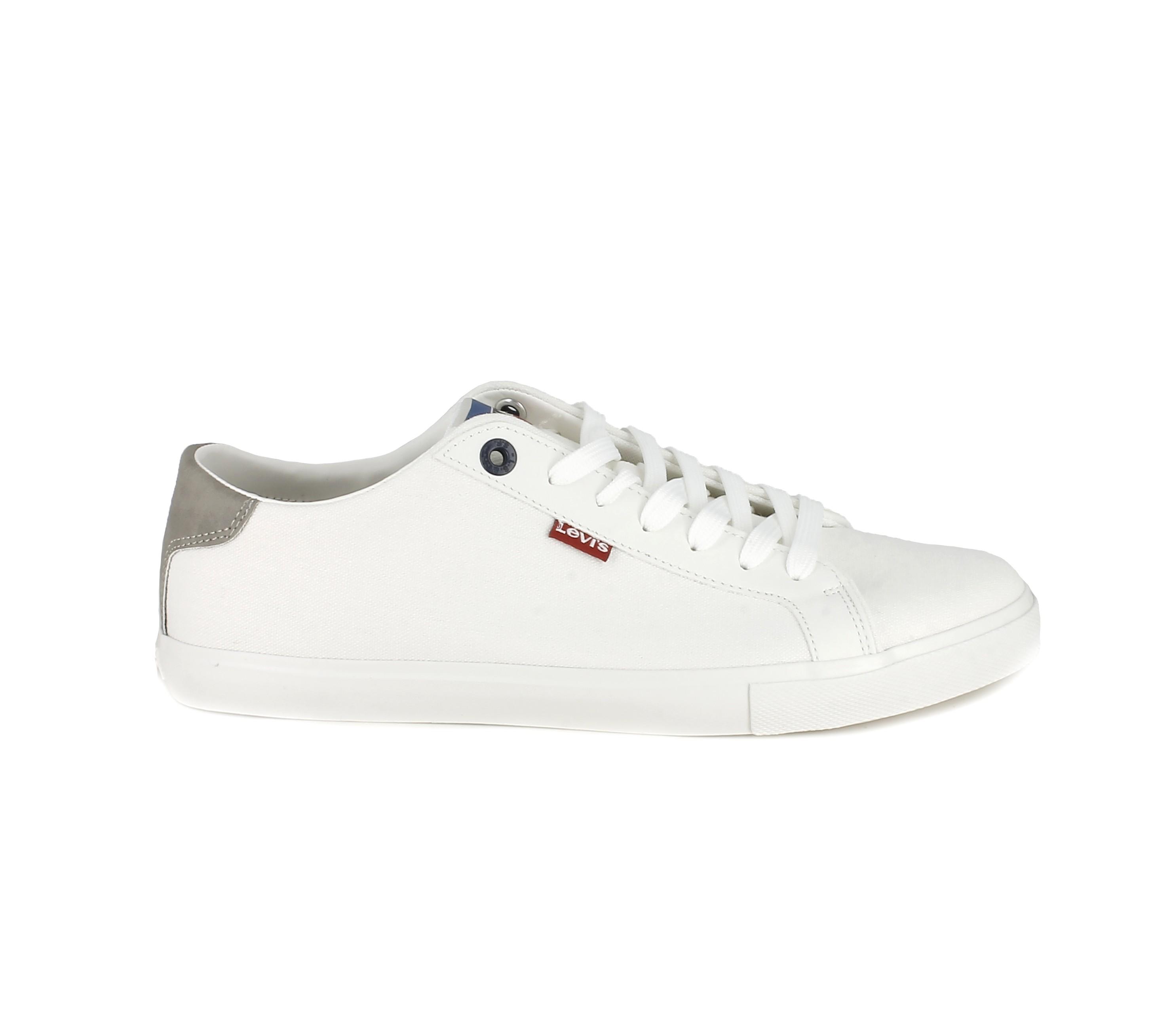 zapatilla blanca hombre cordones loneta