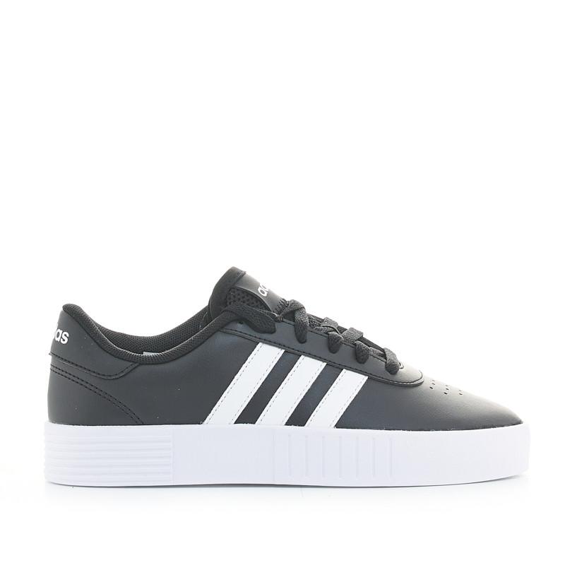 Shetland esquina camión  Zapatillas deportivas negras court bold con plataforma Adidas   Querol  online