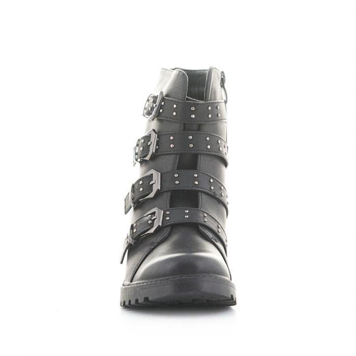 Botins CRECENDO negres amb sivelles i tatxes - Querol online